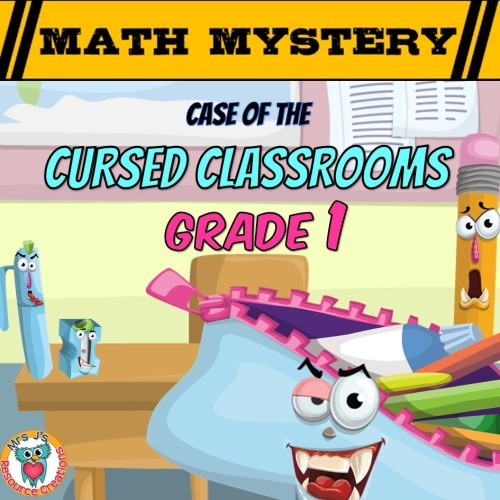 small resolution of Back to School Math Mystery Activity - 1st Grade Worksheets Edition