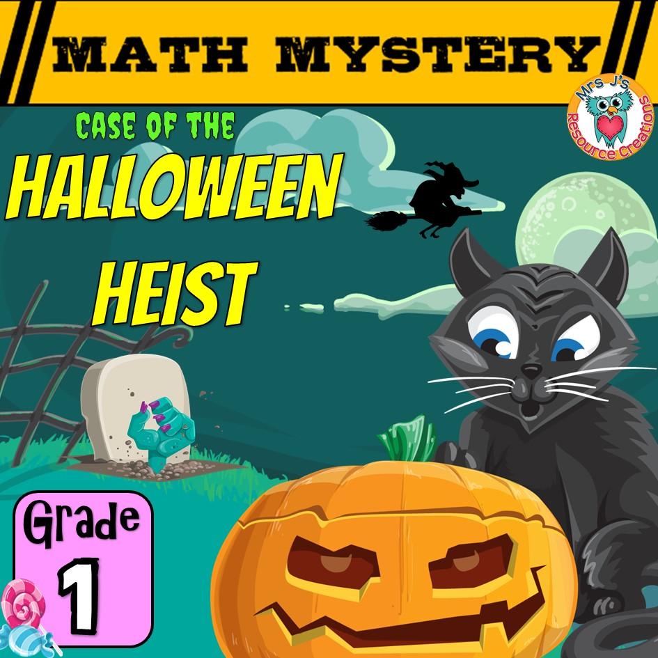 medium resolution of 1st Grade Halloween Math Mystery Game Worksheet Activity
