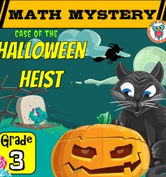 3rd Grade Halloween Math Mystery Game Printable Activity PDF [ 945 x 945 Pixel ]