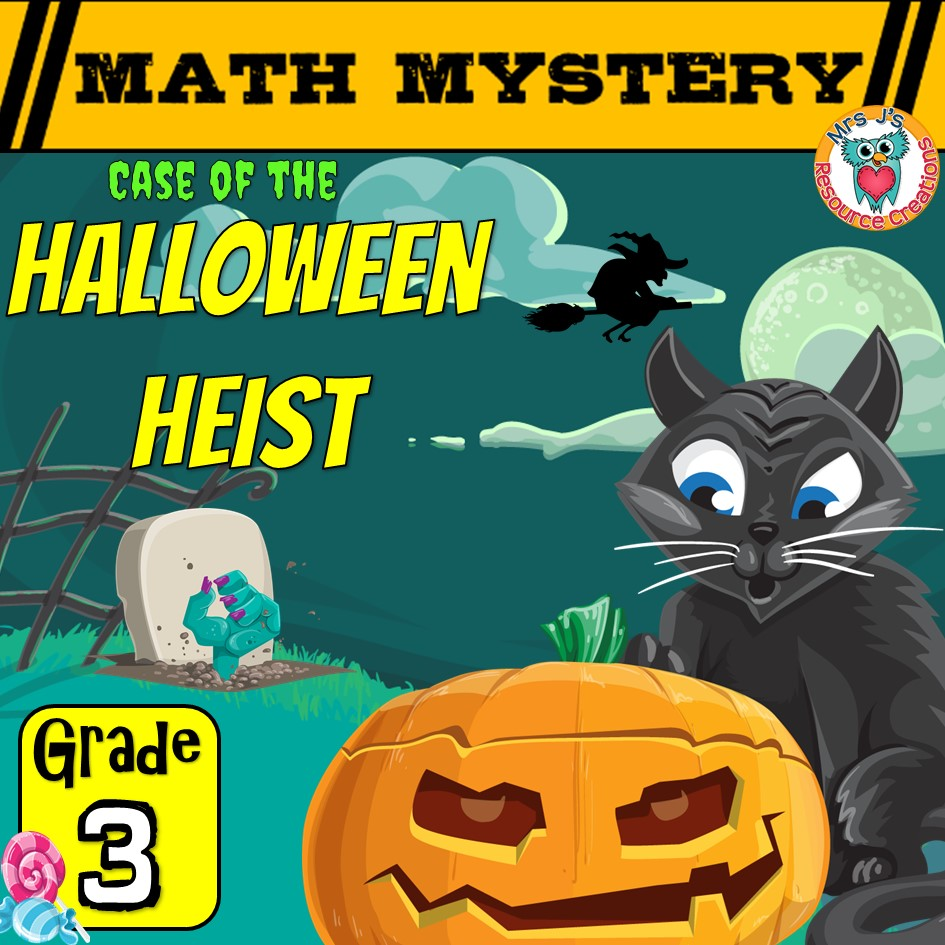medium resolution of 3rd Grade Halloween Math Mystery Game Printable Activity PDF