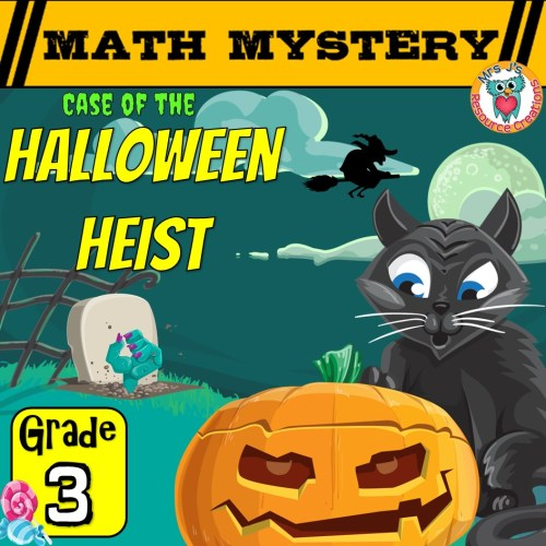 small resolution of 3rd Grade Halloween Math Mystery Game Printable Activity PDF