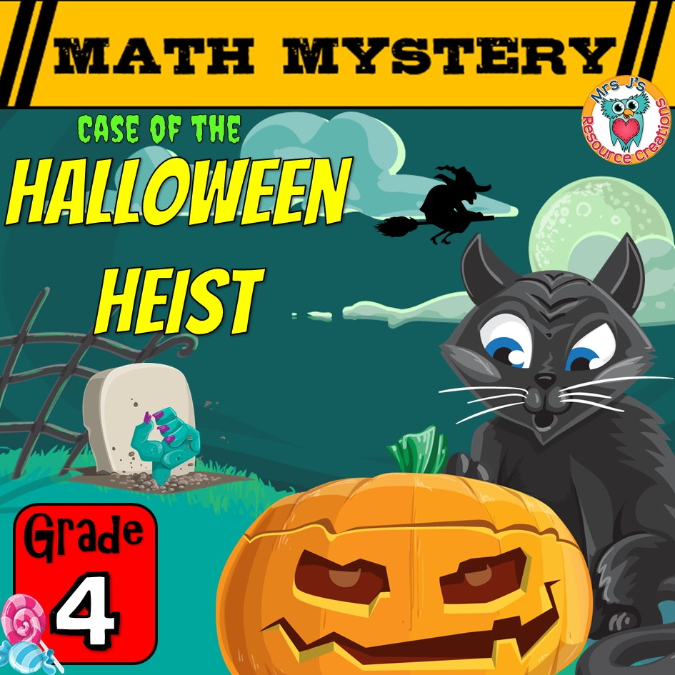 medium resolution of Halloween Math Game Mystery Activity for GRADE 4 - Printable Worksheets