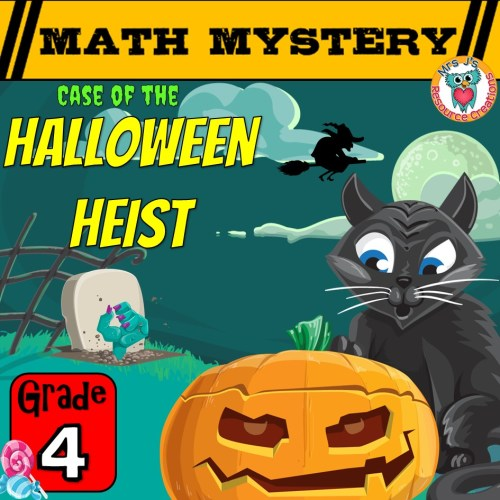 small resolution of Halloween Math Game Mystery Activity for GRADE 4 - Printable Worksheets