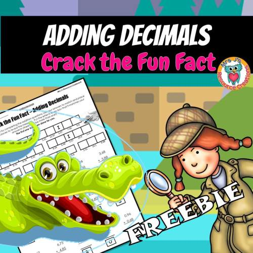small resolution of Adding Decimals Worksheet to Crack a Fun Fact!
