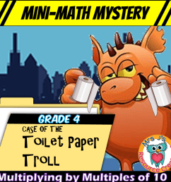 Free Mini-Math Mystery Activity for 4th Grade - Multiplying Single-Digit  Numbers by Multiples of Ten [ 945 x 945 Pixel ]