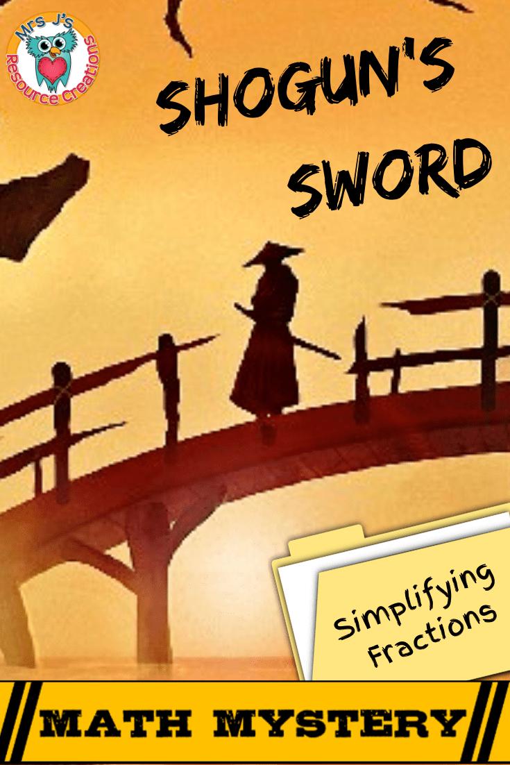 medium resolution of Simplifying Fractions Math Mystery - Case of the Shogun's Sword – 4th Grade  Math Worksheets
