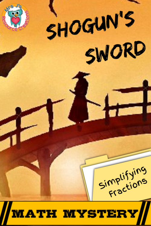 small resolution of Simplifying Fractions Math Mystery - Case of the Shogun's Sword – 4th Grade  Math Worksheets