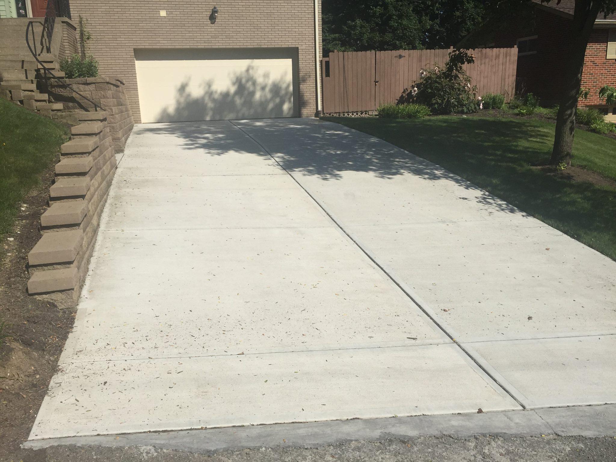 Concrete  Driveways  JJs Landscaping Inc