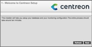 Centreon web setup