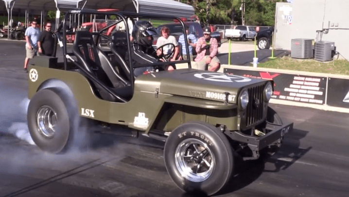 LSX-Powered Jeep Willys Blows Up During Drag Race - JK-Forum