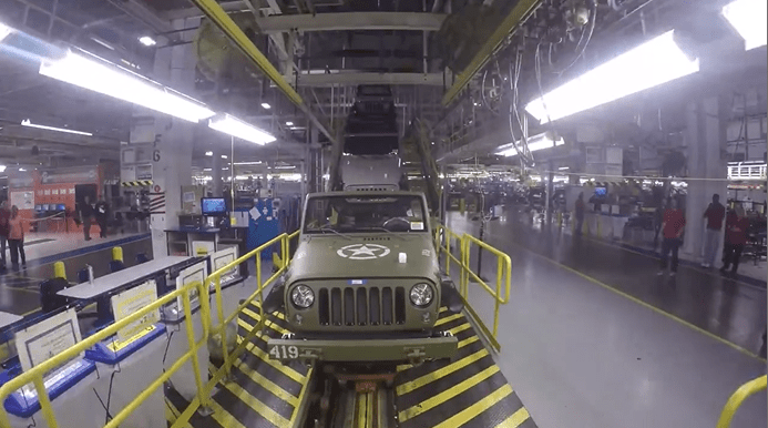 Salute Jeep On Assembly Line