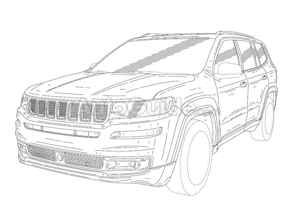 Three-Row Jeep Patent Hints at Something Big in the Works