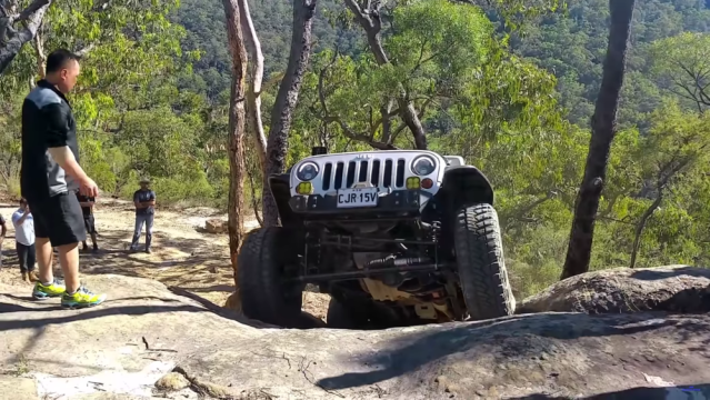 Jeep Wrangler Unlimited rock crawling