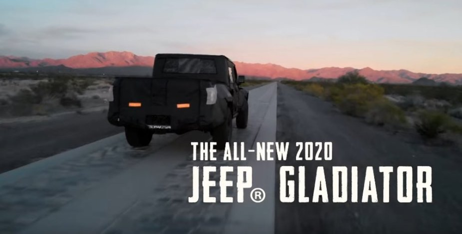 Jeep Gladiator Introduction Screen
