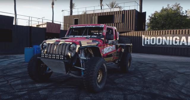 jeep speed race truck + hoonigan