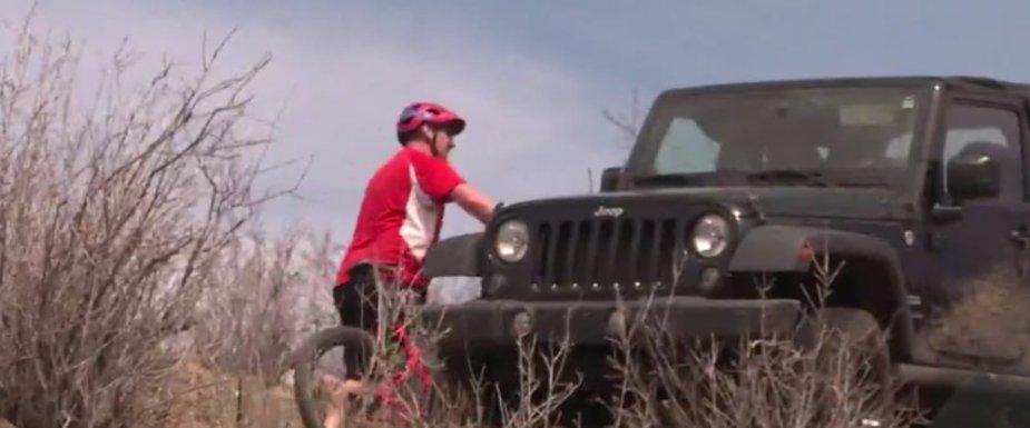Stuck Jeep Wrangler