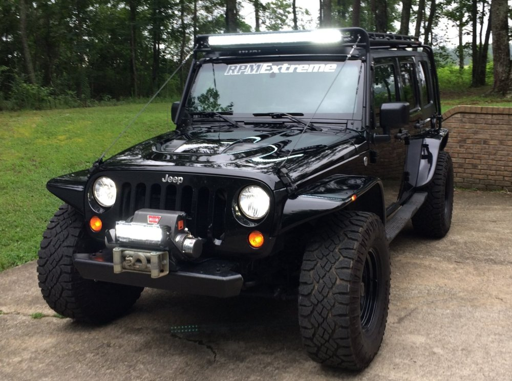 Jeep Wrangler with LS Power