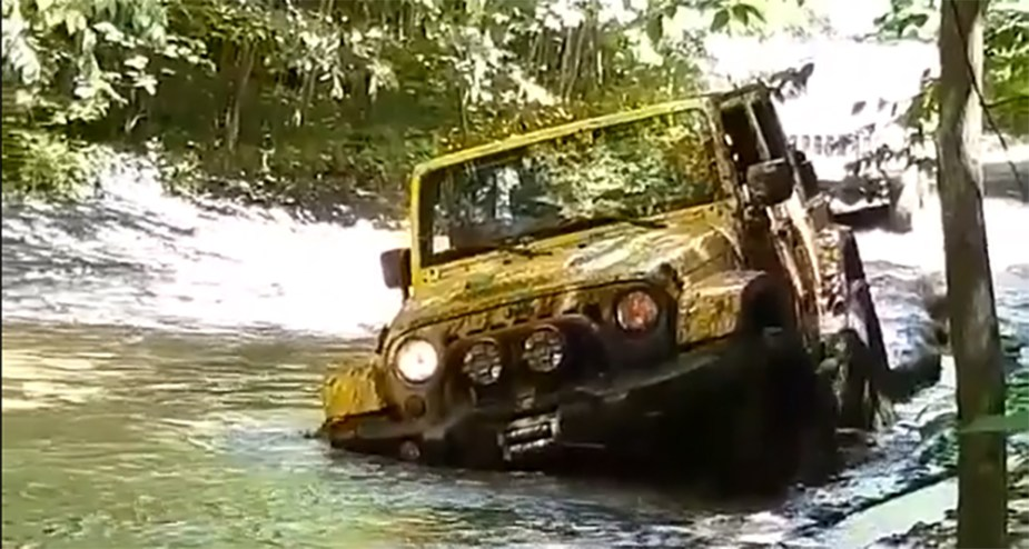 Jeep Wrangler Stuck In Mud