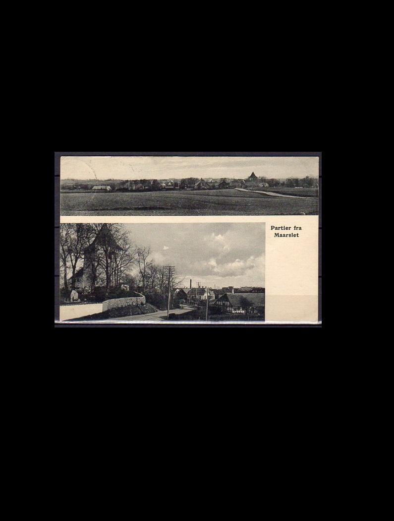 Danmark Postkort Parti fra Maarslet 1929