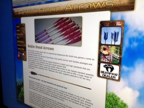 Robin Hood Arrows webbsida