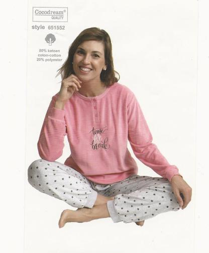 Dames velours pyjama time
