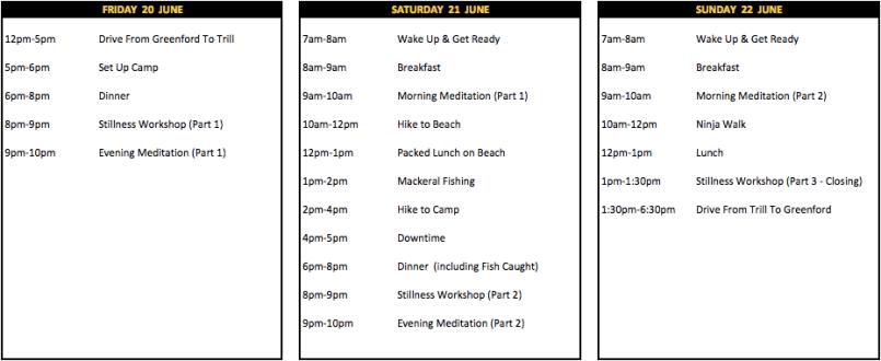 Stillness Schedule v4