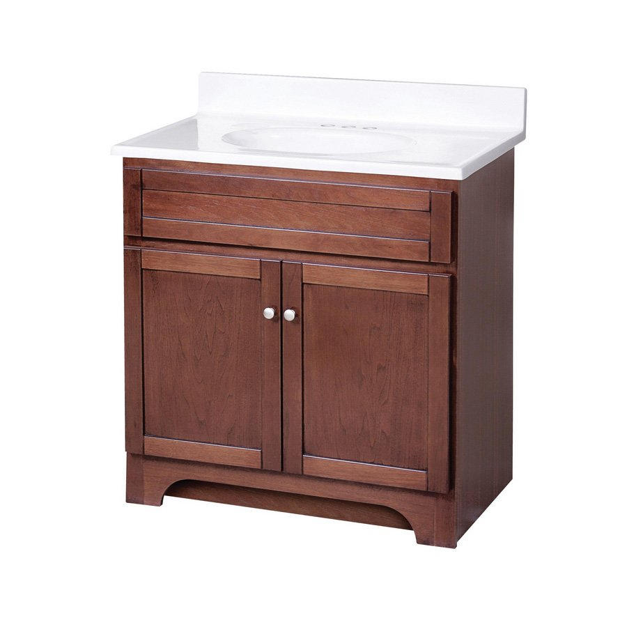 Foremost 30 Columbia Single Sink Bathroom Vanity  Cherry