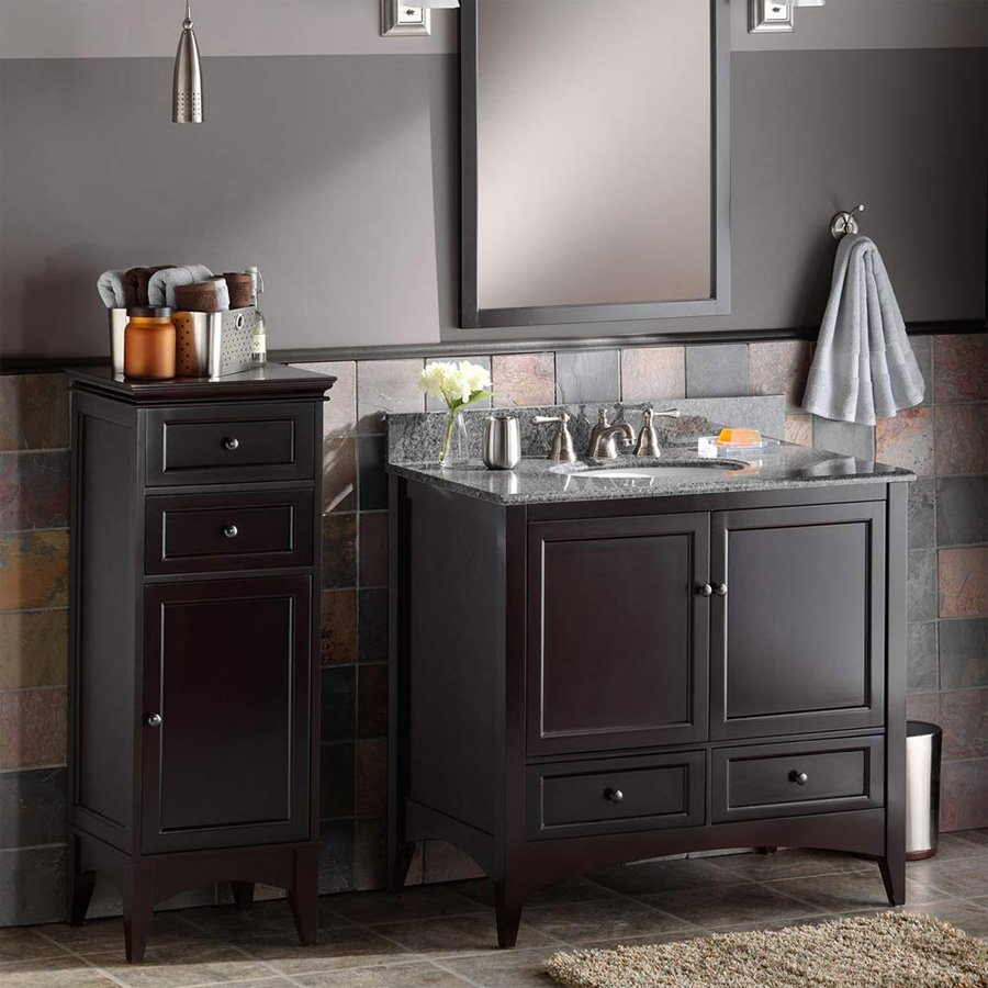 Foremost 43 Berkshire Bathroom Floor Cabinet  Espresso
