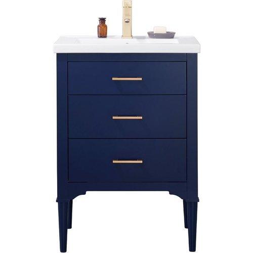 Design Element 24 Inch Mason Single Sink Bathroom Vanity Blue S01 24 Blu J Keats