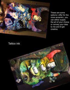 Custom Work Of Art on Custom Made Guitar