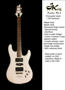 The Genesis White Electric Guitar By Josh King