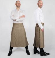 3/4 length glen plaid worsted wool kilt, 2007