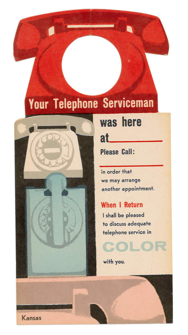 Telephone service in color