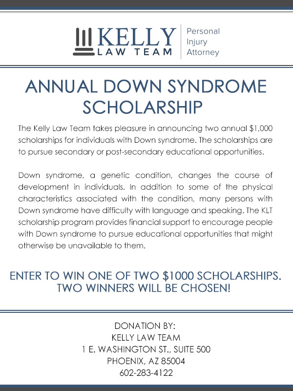 Down Syndrome Scholarships Flyer