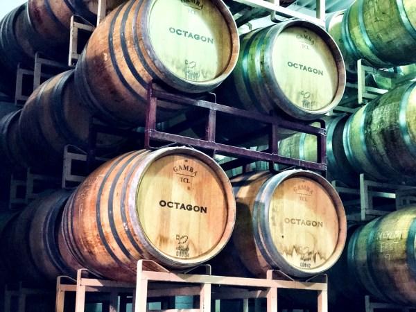 Octagon Wine Barrels