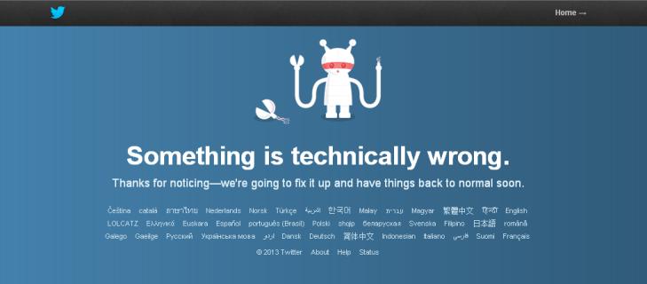 Twitter Error page