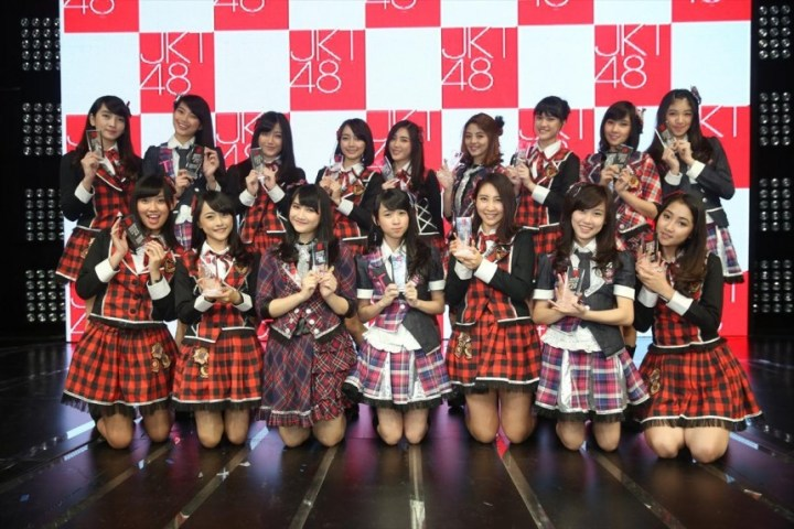 Not giving up: The JKT48 Under Girls team consists of members who ranked 17th to 32nd in the senbatsu sousenkyo. Courtesy of JKT48 Project, via Global News Asia.