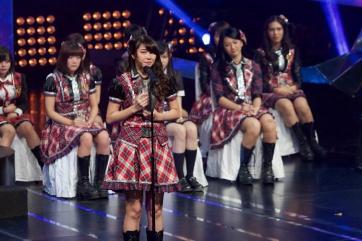 Fans' choice: Jessica Veranda was elected as the new center of JKT48. Courtesy of KapanLagi.com.