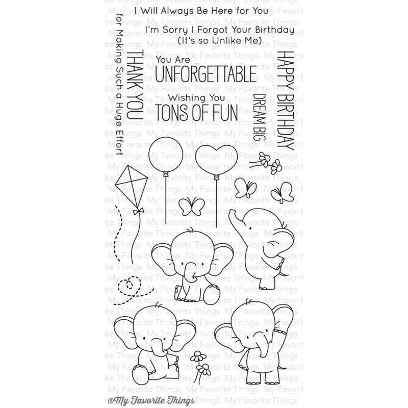 My Favorite Things Adorable Elephants Clear Stamps