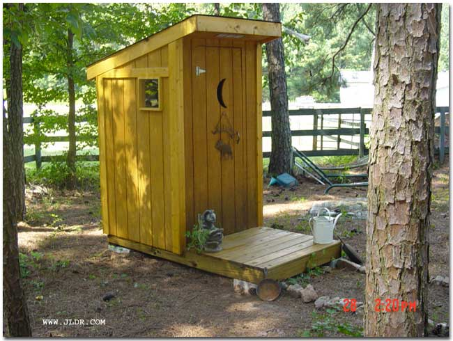 An Outhouse built in Georgia for a friend
