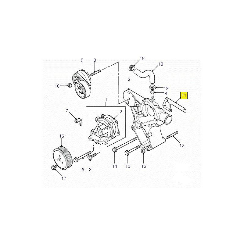 Joint métal pompe à eau Defender Discovery Range Rover