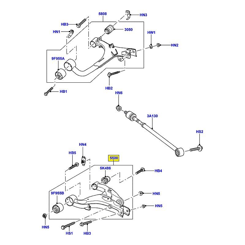 Bras de suspension inférieur arrière droit Range Rover Sport