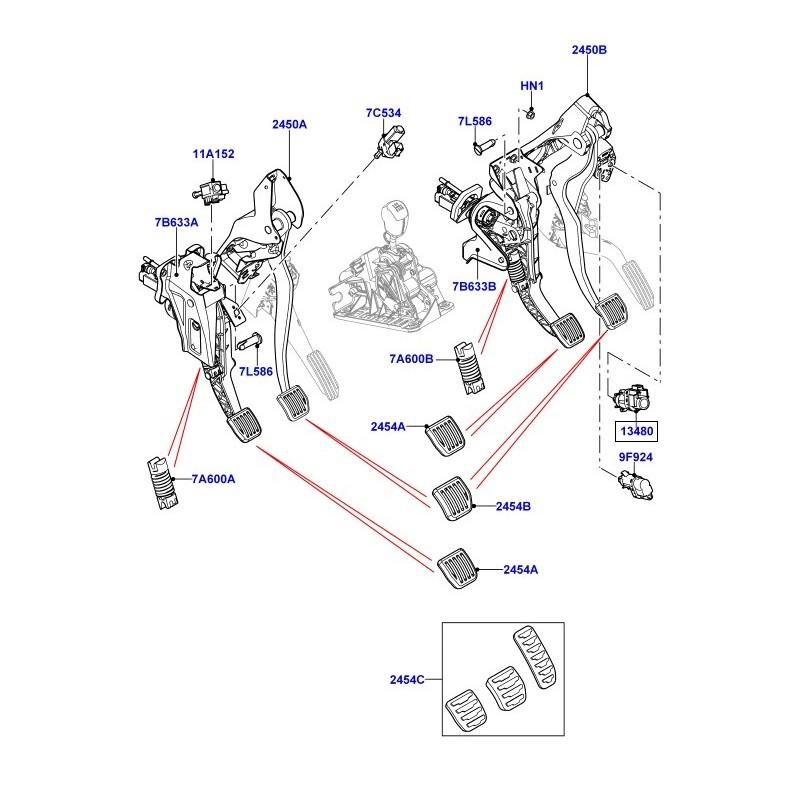 Contacteur feu stop Defender TD4 Puma Freelander 2 Range