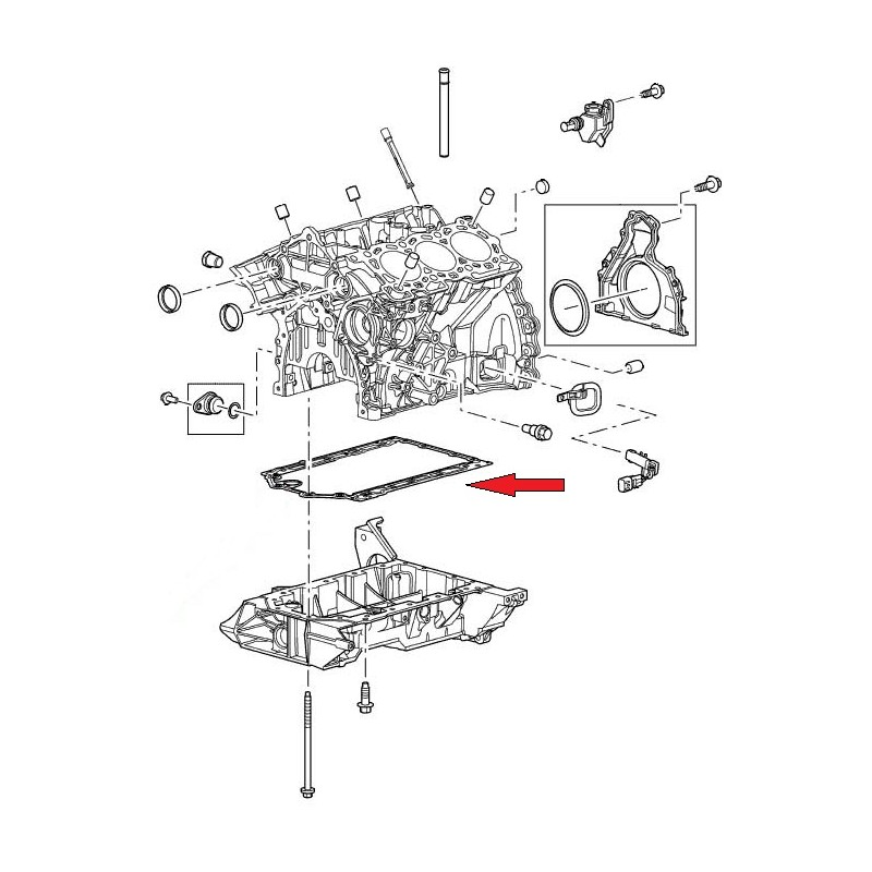 Joint OEM carter inférieur Discovery 3 et 4 Range Rover