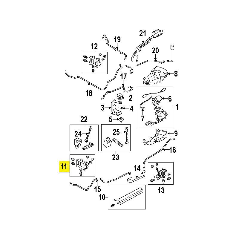 Bloc électrovannes essieu avant Discovery Range Rover Sport