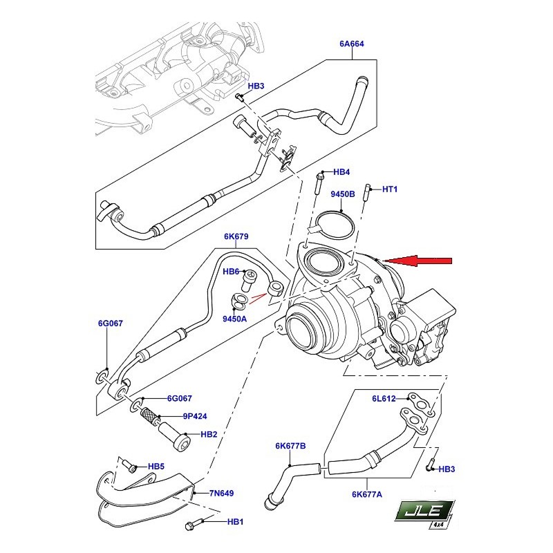 Turbocompresseur OEM Discovery Sport Freelander 2 Range