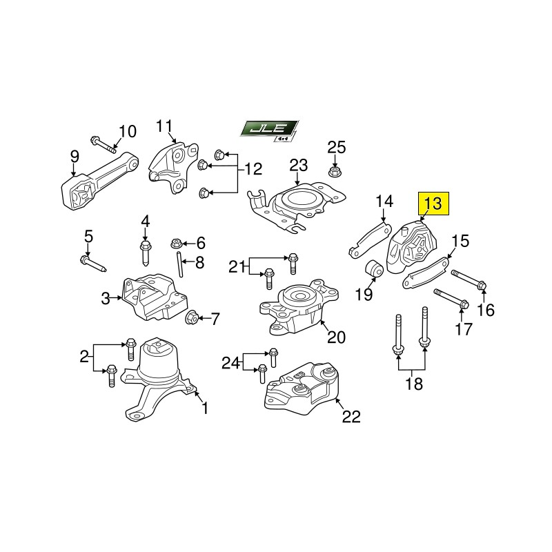 Support moteur OEM Discovery Sport Freelander 2 Range