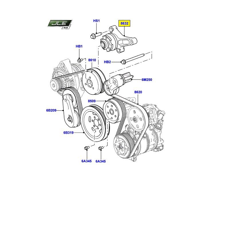 Support de tendeur supérieur Discovery 3/4 Range Rover Sport