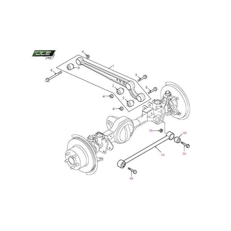 Silent bloc barre Panhard avant Defender Discovery Range Rover