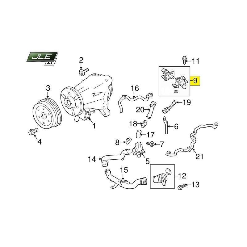 Boîtier de thermostat OEM Discovery 3/4 Range Rover